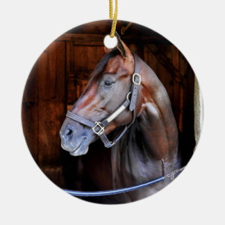 Competitive Edge Double-Sided Ceramic Round Christmas Ornament