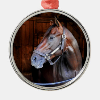 Competitive Edge Round Metal Christmas Ornament