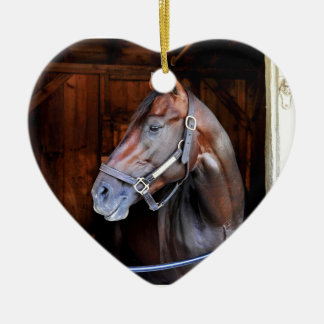 Competitive Edge Double-Sided Heart Ceramic Christmas Ornament