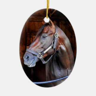 Competitive Edge Double-Sided Oval Ceramic Christmas Ornament