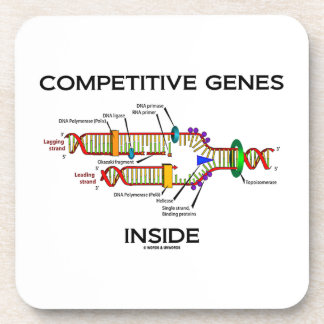 Competitive Genes Inside (DNA Replication) Drink Coaster