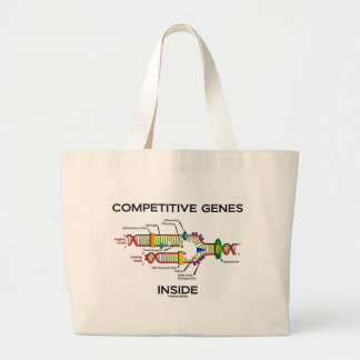 Competitive Genes Inside (DNA Replication) Large Tote Bag
