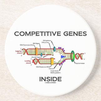 Competitive Genes Inside (DNA Replication) Sandstone Coaster