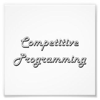 Competitive Programming Classic Retro Design Photo Print