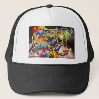 Competitive Sports Art and Photography Collage Trucker Hat