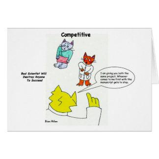Competitivo: Mala tarjeta del científico