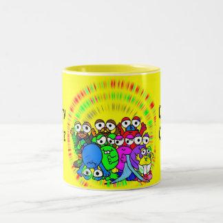 "Comphy Critterz ""Glowing mug"" Two-Tone Coffee Mug"