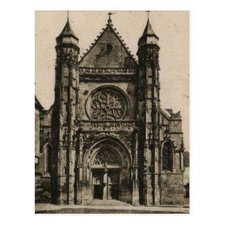 Compiégne - reproducción 1915 de la iglesia tarjetas postales
