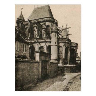 Compiégne - reproducción 1915 de la iglesia tarjeta postal