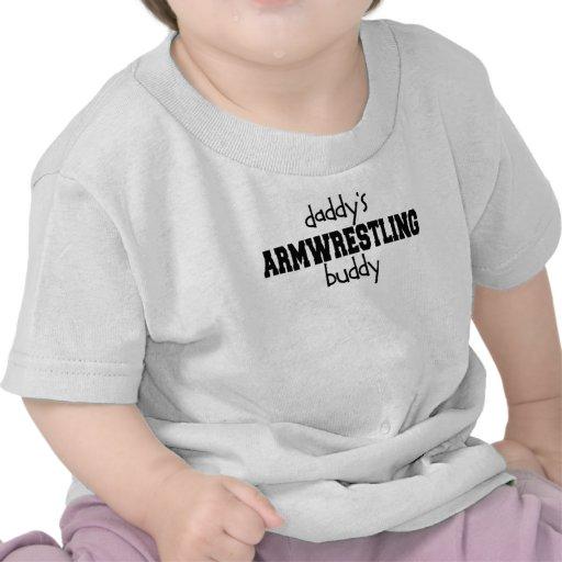 Compinche de Armwrestling del papá Camisetas