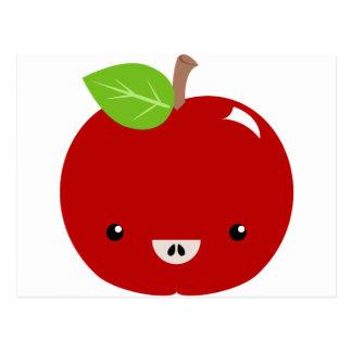 Compinche de Kawaii Apple Postal