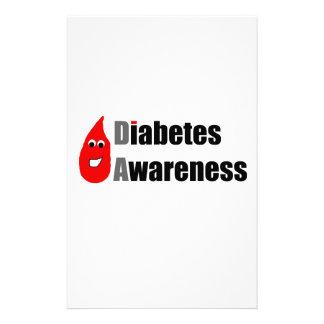 Compinche de la conciencia de la diabetes  papeleria de diseño