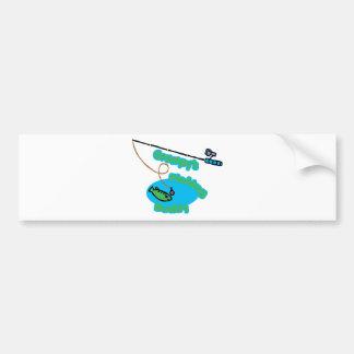 Compinche de la pesca de Grampy Etiqueta De Parachoque