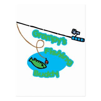 Compinche de la pesca de Grampy Tarjeta Postal