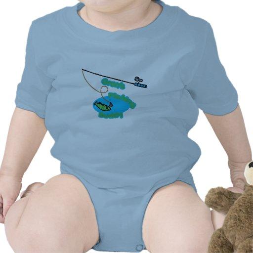 Compinche de la pesca de Gran Trajes De Bebé