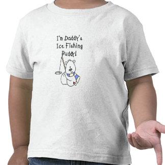 Compinche de la pesca del hielo del papá camisetas