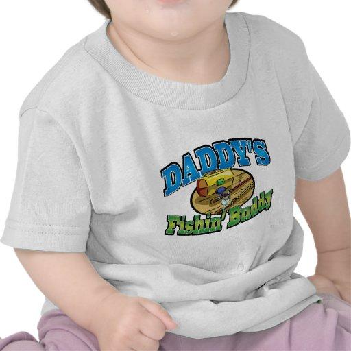 Compinche de la pesca del papá camisetas