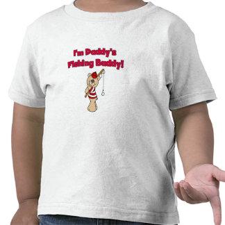 Compinche de la pesca del papá del oso camiseta