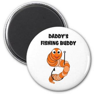 Compinche de la pesca del papá imán redondo 5 cm