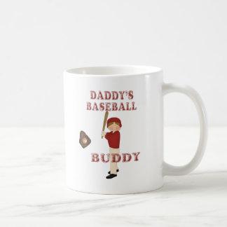 Compinche del béisbol del papá (pelo marrón) taza