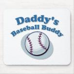 Compinche del béisbol del papá tapete de ratones