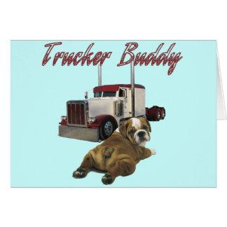 Compinche del camionero tarjeta de felicitación
