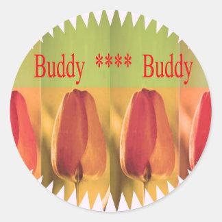 Compinche del compinche: Brotes de flor Pegatina Redonda