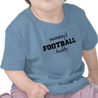 Compinche del fútbol de la mamá camisetas