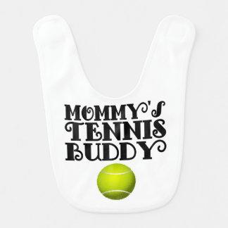 Compinche del tenis de la mamá baberos de bebé