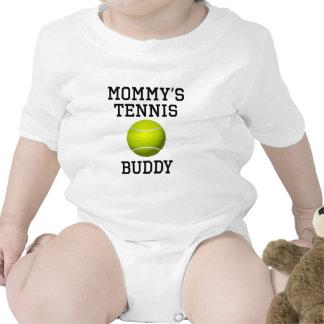 Compinche del tenis de la mamá traje de bebé
