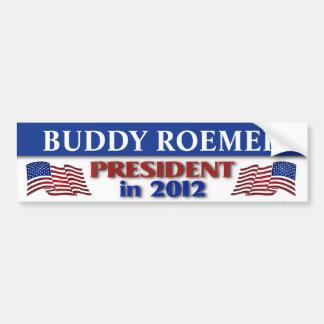 Compinche Roemer para el presidente en 2012 Pegatina Para Auto