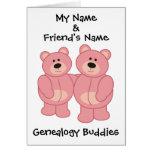 Compinches de la genealogía - osos felicitacion