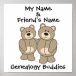Compinches de la genealogía - osos impresiones