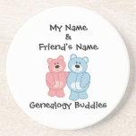Compinches de la genealogía - osos posavasos diseño