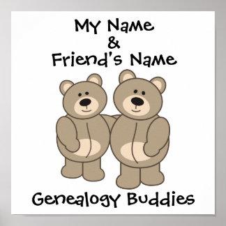 Compinches de la genealogía - osos póster