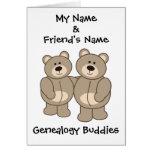 Compinches de la genealogía - osos tarjetas