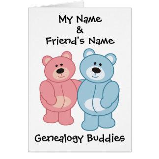 Compinches de la genealogía - osos tarjeton