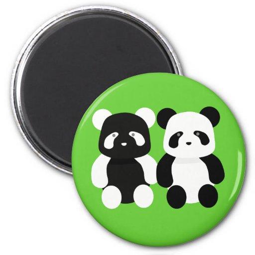 compinches de la panda del kawaii iman para frigorífico