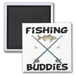 Compinches de la pesca imán cuadrado