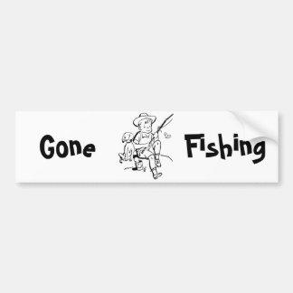 Compinches de la pesca pegatina para auto