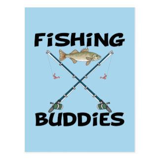 Compinches de la pesca tarjetas postales