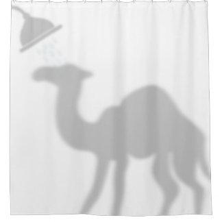 Compinches de la sombra de la silueta de la sombra cortina de baño
