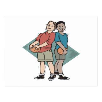 Compinches del baloncesto postales