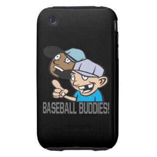 Compinches del béisbol tough iPhone 3 carcasa