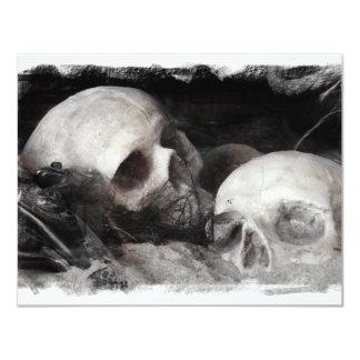 """Compinches del cráneo invitación 4.25"""" x 5.5"""""""