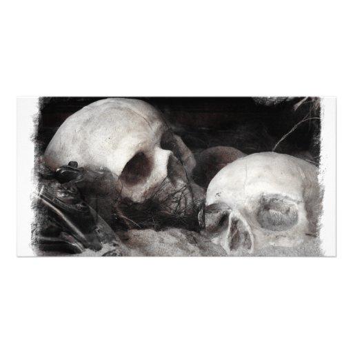 Compinches del cráneo tarjetas fotográficas