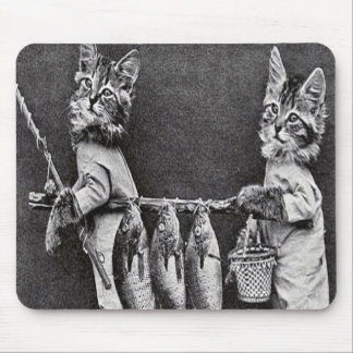 compinches del fishin de los catmen tapete de ratones