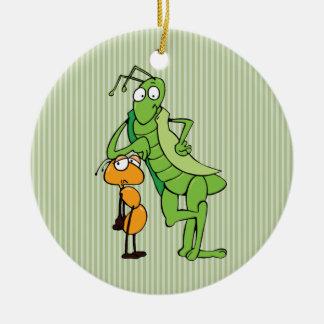 Compinches del insecto ornaments para arbol de navidad