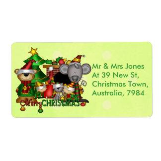 Compinches del navidad etiquetas de envío