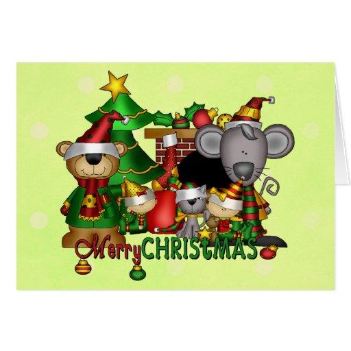 Compinches del navidad tarjeta de felicitación